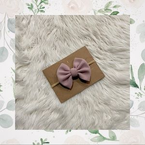 👑Dusty Rose Classic Clip In/Bow on Nylon!